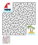 Labyrinthe, énigme de labyrinthe pour des enfants Photos stock