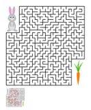 Labyrinthe, énigme de labyrinthe pour des enfants Photo stock