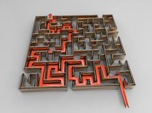 labyrinthe вопроса Стоковая Фотография