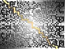 Labyrinthe Photographie stock libre de droits