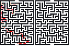 Labyrinthe Photographie stock