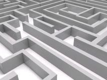 labyrinthe 3D Photographie stock