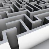 labyrinthe 3D Photographie stock libre de droits