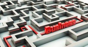 labyrinthe 3d et affaires Photos stock