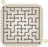 Labyrinthe abstrait Photos stock