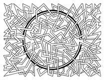 Labyrinthe abstrait de puzzle Photographie stock