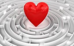 Labyrinthe au coeur Photographie stock libre de droits