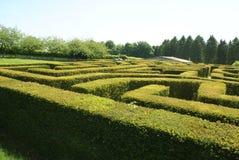 Labyrinthe au jardin de Leeds Castle dans Maidstone, Kent, Angleterre, l'Europe Images stock
