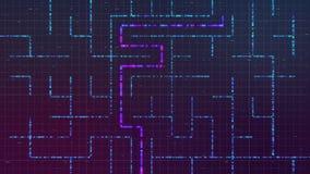 Labyrinthe avec la solution illustration stock