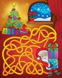 Labyrinthe 21 avec le thème de Noël Photographie stock libre de droits