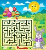Labyrinthe 3 avec le thème de Pâques Images libres de droits