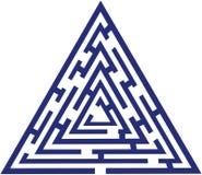Labyrinthe bleu illustration stock