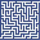 labyrinthe bleu Photo stock