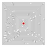 Labyrinthe carré Photographie stock libre de droits
