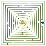 Labyrinthe carré rond Images libres de droits
