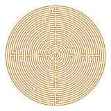 Labyrinthe circulaire Image stock