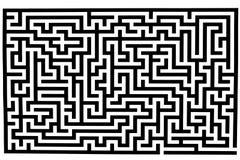 Labyrinthe compliqué Image stock