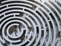 Labyrinthe compliqué rendu 3d Photographie stock libre de droits