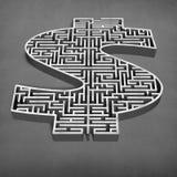 labyrinthe concret de forme de l'argent 3d Images stock