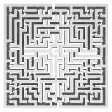 labyrinthe 3d Élément de conception de forme de labyrinthe Image stock