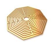 Labyrinthe d'or Image libre de droits