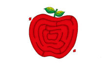 Labyrinthe d'Apple Image stock