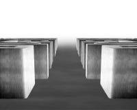labyrinthe 3D concret avec la manière traversante Photo stock