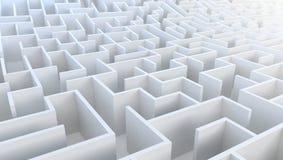 labyrinthe 3D dans la vue aérienne Photo stock