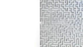 labyrinthe 3D dans la vue supérieure Photos stock