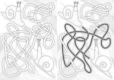 Labyrinthe d'escargot illustration stock