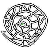 Labyrinthe d'escargot Photographie stock libre de droits