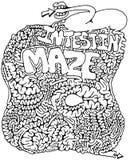 Labyrinthe d'intestin Illustration de Vecteur