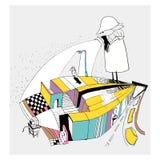 Labyrinthe de bande dessinée de labyrinthe Image stock