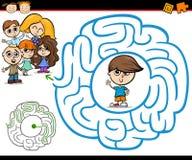 Labyrinthe de bande dessinée ou jeu de labyrinthe Images libres de droits