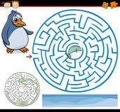 Labyrinthe de bande dessinée ou jeu de labyrinthe Photos stock