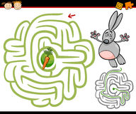 Labyrinthe de bande dessinée ou jeu de labyrinthe Photographie stock