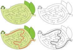 Labyrinthe de Caterpillar illustration libre de droits