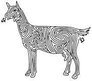Labyrinthe de chèvre Illustration Stock