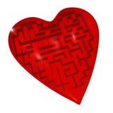 Labyrinthe de coeur Images libres de droits