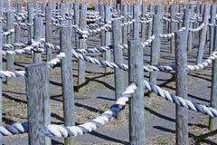 Labyrinthe de corde Photo stock