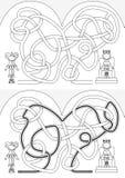 Labyrinthe de cour illustration libre de droits