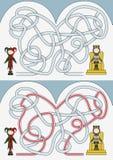 Labyrinthe de cour illustration stock