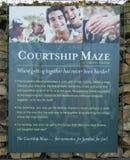 Labyrinthe de cour, vert de Gretna Photos libres de droits