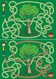 Labyrinthe de cueillette d'Apple Illustration de Vecteur