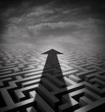 Labyrinthe de flèche Image libre de droits