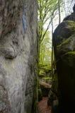 Labyrinthe de forêt et de roches Images libres de droits