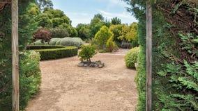 Labyrinthe de haie : Jardins encadrés Photographie stock