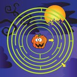 Labyrinthe de Halloween Images libres de droits