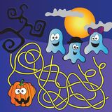 Labyrinthe de Halloween Images stock
