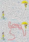 Labyrinthe de jour pluvieux illustration stock
